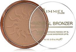 Düfte, Parfümerie und Kosmetik Wasserfester Bronzepuder LSF 15 - Rimmel Natural Bronzer Powder