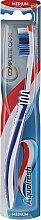 Düfte, Parfümerie und Kosmetik Zahnbürste mittel Complete Care dunkelblau-weiß - Aquafresh Complete Care Medium