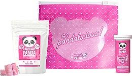 Düfte, Parfümerie und Kosmetik Haarpflegeset - Hair Care Panda Travel Set (Haarvitamine 70g + Kollagen zum Trinken 10 St. + Kosmetiktasche)