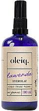 Düfte, Parfümerie und Kosmetik Lavendelhydrolat für Gesicht, Körper und Haar - Oleiq Hydrolat Lavender
