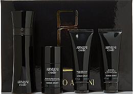 Düfte, Parfümerie und Kosmetik Giorgio Armani Armani Code - Duftset (Eau de Toilette/125ml + After Shave Balsam/75ml + Duschgel/75ml + Roll-on Deodorant/75g)