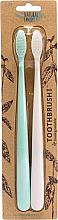 Düfte, Parfümerie und Kosmetik Zahnbürste mit biologisch abbaubarem Griff 2 St. - The Natural Family Co Bio Brush Rivermint & Ivory Desert