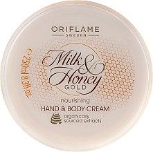 Düfte, Parfümerie und Kosmetik Nährende Hand- und Körpercreme mit Milch und Honig - Oriflame Milk and Honey Gold Nourishing Hand and Body Cream