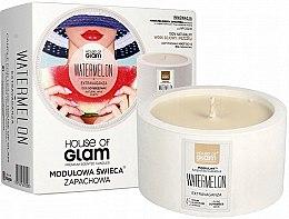 Düfte, Parfümerie und Kosmetik Soja-Duftkerze Watermelon Extravaganza - House of Glam Raw White Collection Watermelon Extravaganza Candle