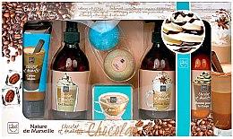 """Düfte, Parfümerie und Kosmetik Badeset """"Kaffee und Amaretto"""" - Badeset (Handcremer/100+Shampoo/300+Duschgel/300ml+Körperlotion/300ml+Badebomben/2x80g+Seife/100g)"""
