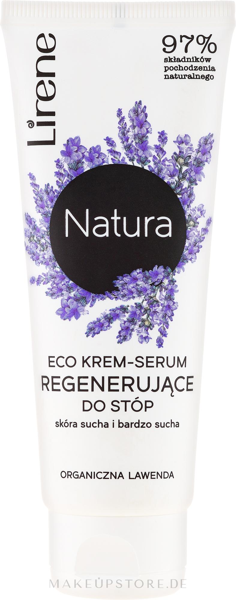 Creme-Serum für trockene Fusshaut mit Lavendel - Lirene Natura Eco Organic Lavender — Bild 75 ml