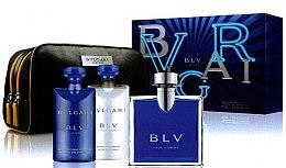 Düfte, Parfümerie und Kosmetik Bvlgari BLV - Duftset (Eau de Toilette 100ml + Duschgel 75ml + Duschbalsam 75ml + Kosmetiktasche)