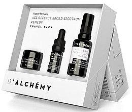 Düfte, Parfümerie und Kosmetik Gesichtspflegeset - D'Alchemy Travel Pack (Gesichtscreme 15ml + Gesichtsöl 5ml + Mizellenwasser 30ml)