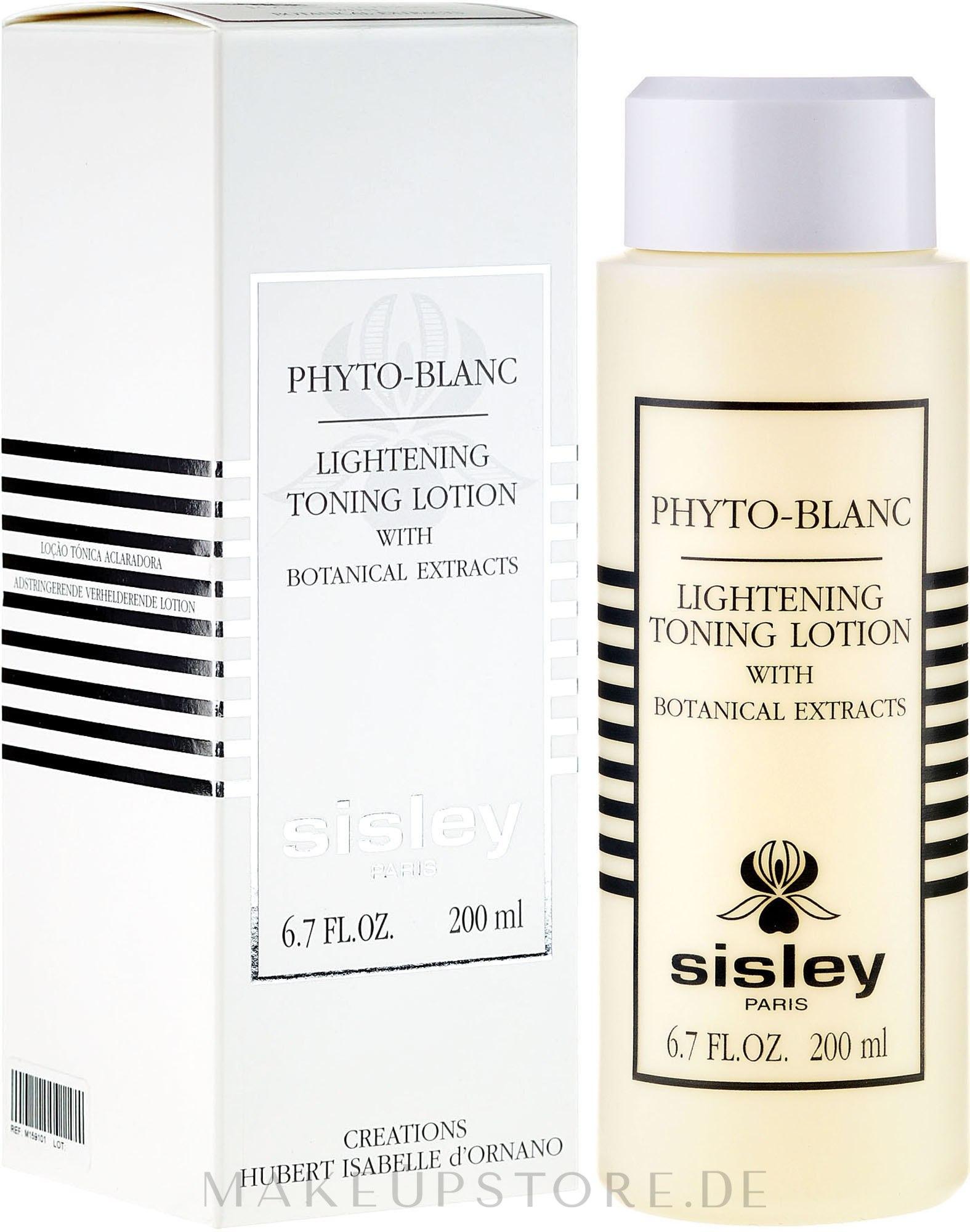Gesichtslotion für Make-up-Entfernung mit Pflanzenextrakten - Sisley Phyto-Blanc Lightening Toning Lotion — Bild 200 ml