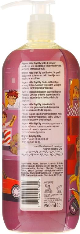 Bade- und Duschgel für Kinder mit tropischem Fruchtduft Big City - Hegron Kid's Big City Bath & Shower — Bild N2
