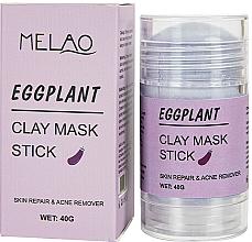 Düfte, Parfümerie und Kosmetik Reinigende und entgiftende Gesichtsmaske in Stick mit Aubergine - Melao Eggplant Clay Mask Stick
