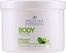 Düfte, Parfümerie und Kosmetik 100% Natürliches Körperpeeling mit Bergamotten- und Vanilleöl - Hristina Professional 100% Natural Bergamot&Vanilla Body Peeling