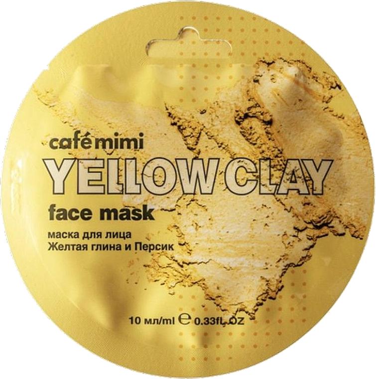 Gesichtsmaske mit gelber Tonerde und Pfirsich - Cafe Mimi Face Mask — Bild N1