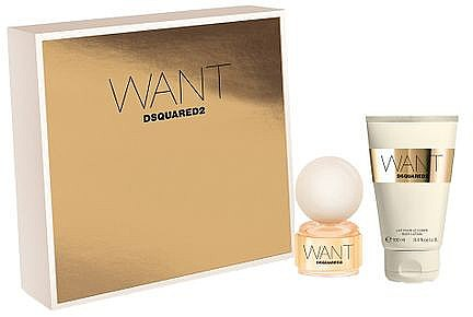 DSQUARED2 Want - Duftset (Eau de Parfum/50ml + Körperlotion/100ml) — Bild N1
