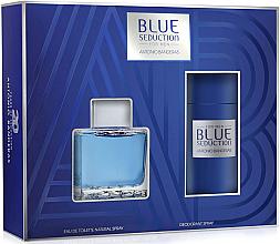 Düfte, Parfümerie und Kosmetik Blue Seduction Antonio Banderas - Duftset (Eau de Toilette 100ml +Deodorant 150ml)