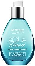 Düfte, Parfümerie und Kosmetik Schnell einziehende feuchtigkeitsspendende Creme-Textur für raue, trockene und schuppige Haut - Biotherm Aqua Bounce Super Concentrate Plump