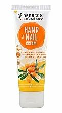 Düfte, Parfümerie und Kosmetik Hand- und Nagelcreme mit Sanddorn und Orange - Benecos Natural Care Sea Buckthorn & Orange Hand And Nail Cream