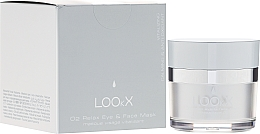 Düfte, Parfümerie und Kosmetik Beruhigende Augen- und Gesichtsmaske - LOOkX O2 Relax Eye & Face Mask
