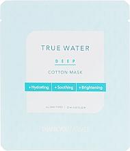 Düfte, Parfümerie und Kosmetik Feuchtigkeitsspendende und beruhigende Tuchmaske für das Gesicht - Thank You Farmer True Water Deep Cotton Mask