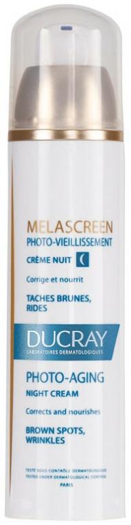 Korrigierende und pflegende Nachtcreme gegen Falten und dunkle Flecken - Ducray Melascreen Night Cream — Bild N2