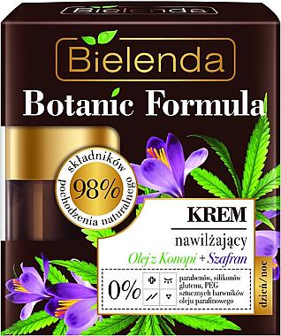 Intensive feuchtigkeitsspendende Gesichtscreme - Bielenda Botanic Formula Hemp Oil + Saffron Moisturizing Cream — Bild N1