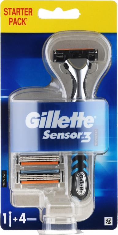 Rasierer mit 4 Ersatzklingen - Gillette Blue 3