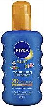 Düfte, Parfümerie und Kosmetik Feuchtigkeitsspendendes Sonnenschutzspray für Kinder SPF 20 - Nivea Sun Kids Caring Sun Spray SPF 20