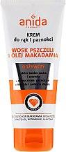 Düfte, Parfümerie und Kosmetik Hand- und Nagelcreme mit Bienenwachs und Macadamiaöl - Anida Pharmacy Hand Cream Macadamia Oil