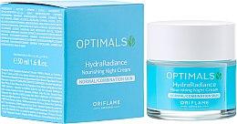 Düfte, Parfümerie und Kosmetik Feuchtigkeitsspendende Nachtcreme für normale und Mischhaut - Oriflame Optimals Hydra Radiance Nourishing Night Cream