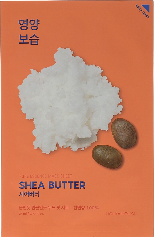 Pflegende Tuchmaske mit Sheabutter - Holika Holika Pure Essence Mask Sheet Shea Butter