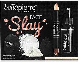 Düfte, Parfümerie und Kosmetik Make-up Set - Bellapierre Face Slay Kit Fair/Medium (Highlighter 8.6g + Gesichtspuder 6.5g + Make-up Fixierspray 70ml + Make-up Schwamm)