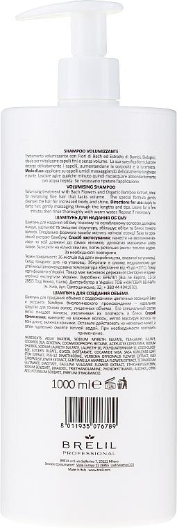 Shampoo für Haarvolumen mit Bachblüten und Bambus - Brelil Bio Treatment Volume Shampoo — Bild N4