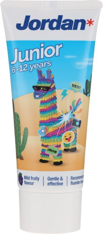Kinderzahnpasta 6-12 Jahre Alpaka - Jordan Junior Toothpaste — Bild N1