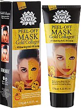 Düfte, Parfümerie und Kosmetik Aufhellende Peel-Off Maske gegen Falten - Pilaten Anti Aging 24K Gold Collagen Peel Off Face Mask