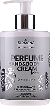 Düfte, Parfümerie und Kosmetik Parfümierte Hand- und Körpercreme mit Hyaluronsäure und Sheabutter - Farmona Professional Perfume Hand&Body Cream Men