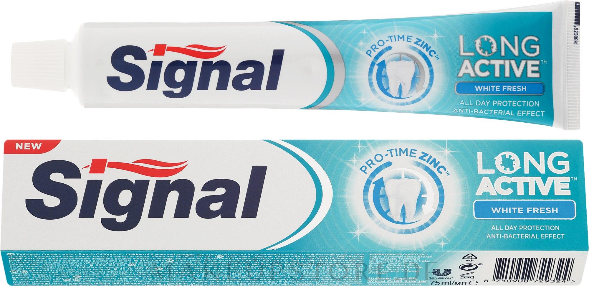 Aufhellende Zahnpasta Long Active White Fresh - Signal Long Active White Fresh Toothpaste — Bild 75 ml