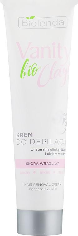Enthaarungscreme mit rosa Ton und Rosenöl - Bielenda Vanity Bio Clays — Bild N1