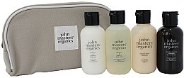 Düfte, Parfümerie und Kosmetik Haarpflegeset - John Masters Organics Travel Kit Hair & Body (Shampoo 60ml + Conditioner 60ml + Körpermilch 60ml + Duschgel 60ml)