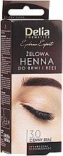 Düfte, Parfümerie und Kosmetik Augenbrauenfarbe-Gel dunkelbraun - Delia Eyebrow Tint Gel ProColor 3.0 Dark Brown