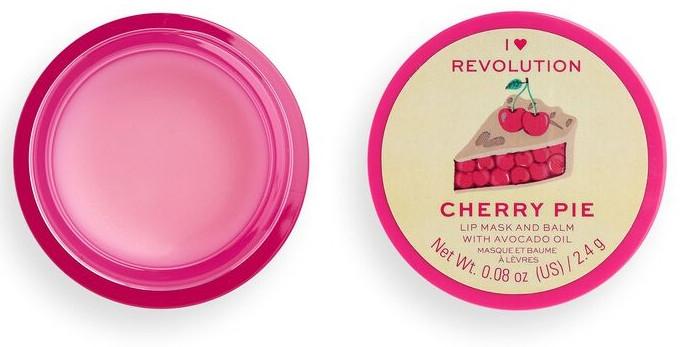 Balsam-Maske für die Lippen mit Avocadoöl - I Heart Revolution Cherry Pie Lip Mask & Balm — Bild N2