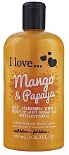 "Düfte, Parfümerie und Kosmetik Badeschaum und Duschcreme ""Mango & Papaya"" - I Love... Mango & Papaya Bubble Bath and Shower Creme"