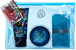 Düfte, Parfümerie und Kosmetik Set - Marvel Avengers (heir/gel/75ml+sh/gel/75ml+cloth+bag)