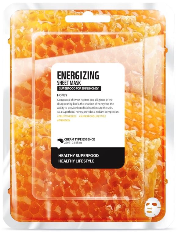 Energiespendende Tuchmaske mit Honig - Superfood For Skin Energizing Sheet Mask — Bild N1