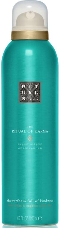 Duschschaum mit Lotosblume und Bio weißem Tee - Rituals The Ritual of Karma Foaming Shower Gel — Bild N1