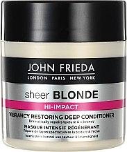 Düfte, Parfümerie und Kosmetik Regenerierende Haarmaske - John Frieda Sheer Blonde Hi-Impact Vibrancy Restoring Deep Conditioner