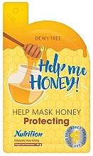 Düfte, Parfümerie und Kosmetik Intensiv nährende und schützende Tuchmaske für das Gesicht mit Honig - Dewytree Help Me Honey! Protecting Mask