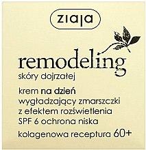 Düfte, Parfümerie und Kosmetik Anti-Falten aufhellende Tagescreme mit Kollagen 60+ - Ziaja Remodeling 60+ SPF 6