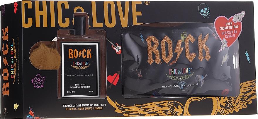 Chic&Love Rock - Duftset (Eau de Toilette 100ml + Kosmetiktasche) — Bild N1
