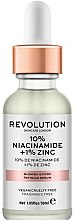 Düfte, Parfümerie und Kosmetik Beruhigendes Anti-Makel Gesichtsserum zur Verengung der Poren - Revolution Skincare 10% Niacinamide + 1% Zinc