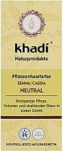 Düfte, Parfümerie und Kosmetik Natürliche Haarkur für mehr Volumen und Glanz - Khadi Herbal Natural Henna Senna/Cassia (colourless)